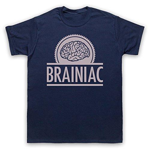 Brainiac Hipster Herren T-Shirt Ultramarinblau