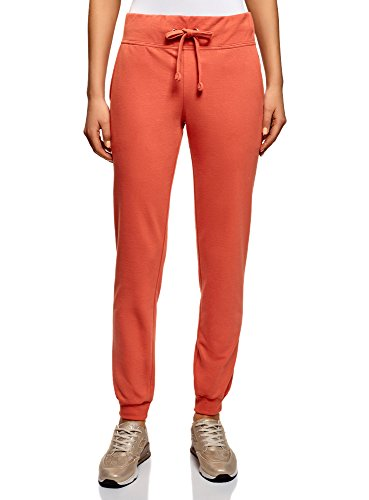 oodji Ultra Mujer Pantalones de Punto Deportivos, Naranja, ES 34 / XXS