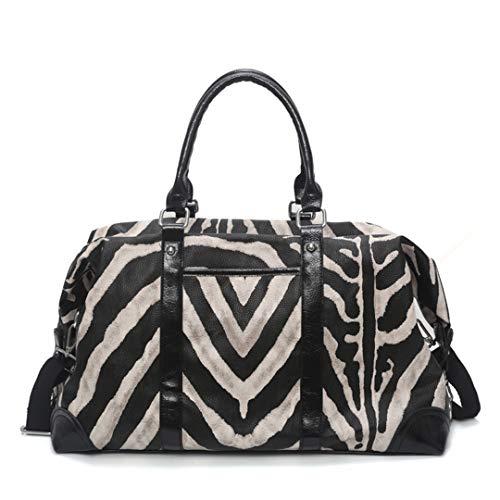 Frauen Reisetasche Yoga Sporttasche Schulter umhängetasche Trip Fitness Taschen pu Leder gepäck Zebra Pattern