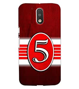 PrintDhaba NUMBER FIVE D-6645 Back Case Cover for MOTOROLA MOTO G4 (Multi-Coloured)