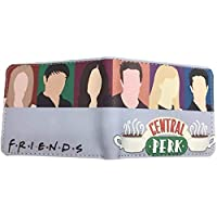 htrdjhrjy Fabulous American Tv Show Friends Wallet Central Perk Coffee Time Pu Leather Wallets with Coin Pocket Fro Men Women(None 1)