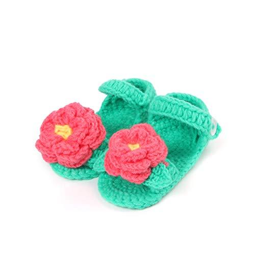 GUHUA Handgestrickte Babyschuhe, Babysocken Für Männer Und Frauen, Süße Blumen 0-18 Monate