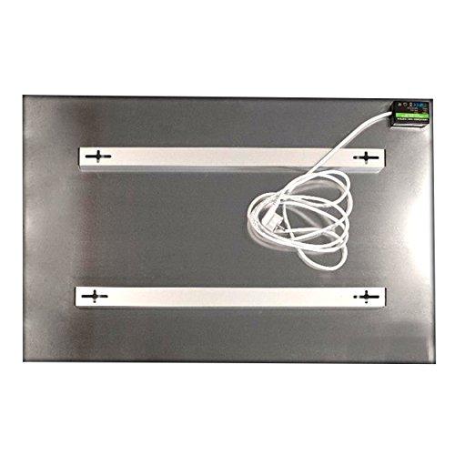 Allpax Infrarot Glasheizung Weiss 600 Watt – 60 x 90 x 25 cm – TÜV geprüft – Wandmontage Bild 2*