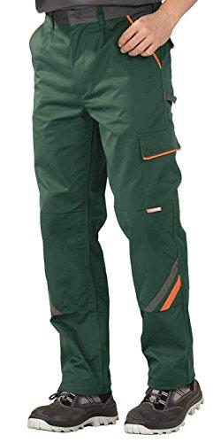 Planam Arbeitshose / Bundhose Visline in vielen Farben und Größen! (24, grün-orange-schiefer)