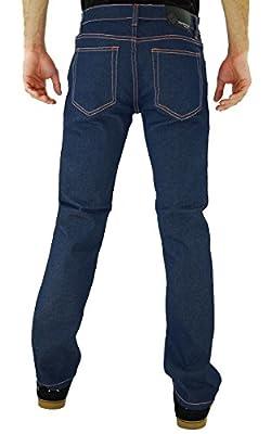 Kayden K Men's Twill Skinny Jeans Blue Orange