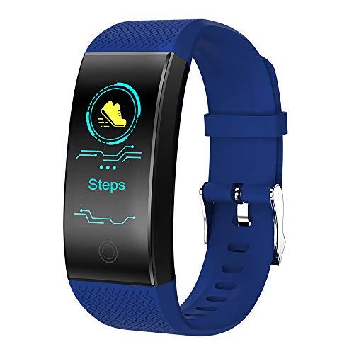Fitness Armbanduhr mit Herzfrequenz [Wasserdichtes IP68 10M] / Dorical GPS Outdoor Tracker/Schrittzähler Kalorienzähler Smartwatch Pulsmesser für Android iOS Bluetooth-Benachrichtigungen(Blau)