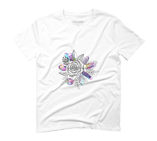 Rose and Crystals Men's Graphic T-Shirt - Design By Humans White