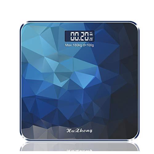 HiXB Digitale Personenwaage Hochpräzise Waage Hintergrundbeleuchtung Display Blau,A