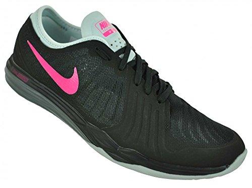 Nike Damen W Dual Fusion Tr 4 Turnschuhe, 16 EU Schwarz (Blk / Pnk HYPR-Drk Gry-Pr Pltnm)