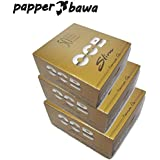 Papper Bawa Gold OCB King Size Rolling Paper Pack Of 150-3 Full Box (4800) Leaves Assorted Hookah Flavor