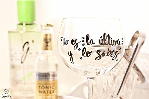 Kit de Gin Tonic con copa personalizada - Copa de gin tonic personaliz