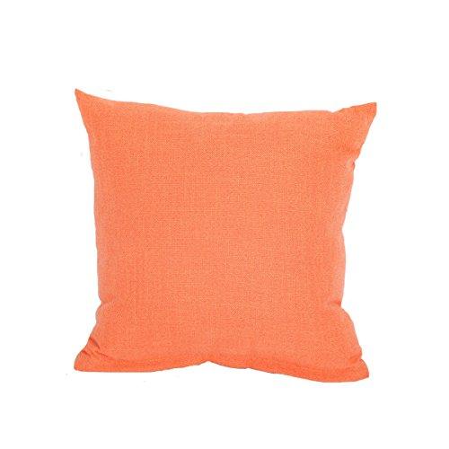 SHRJJ 2017 Plaine Couleur Unie Lin Oreillers Coussins Voiture Cadeau,Orange-45 * 45cmPillowWithPillowCore