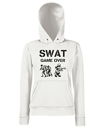 T-Shirtshock - Sweats a capuche Femme TM0528 spartacus Blanc