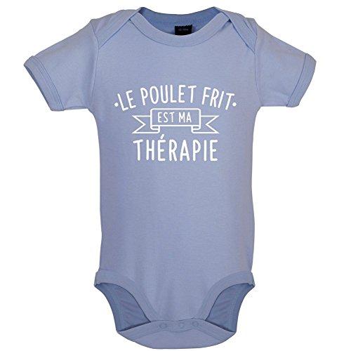 le-poulet-frit-est-ma-therapie-marrant-bebe-body-bleu-clair-6-a-12-mois