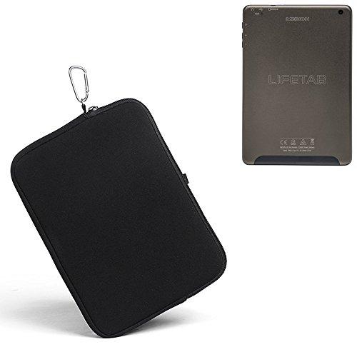 K-S-Trade® für Medion Lifetab S7852 Neopren Hülle Schutzhülle Neoprenhülle Tablethülle Tabletcase Tablet Schutz Gürtel Tasche Case Sleeve Business schwarz für Medion Lifetab S7852