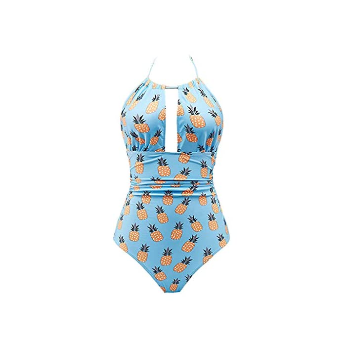 URSING Damen Einteiler BadebekleidungTief-V Rückenfrei Bauch Monokini Badeanzüge Backless Monokini Hollow Out Swimsuits…
