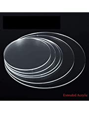 BIGMALL Circle Acrylic Sheet Perspex Plexiglass Combo (3 mm/6 , 8 , 10 and 12 inch, Transparent/Clear)
