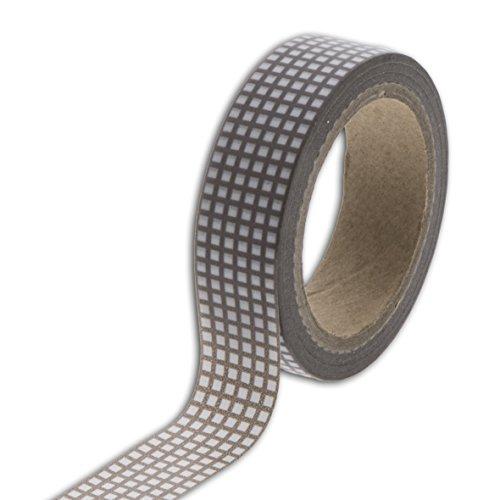 Unbekannt Toga MT86Masking Tape Vichy Washi, taupe/weiß, 5,5 x 7 x 1,5 cm