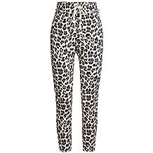 6fc7acfc6dab Pantalon Casual Taille Haute Femme - Sunenjoy Pantalon de Sport Imprimé  Léopard Pied de Faisceau Jogging