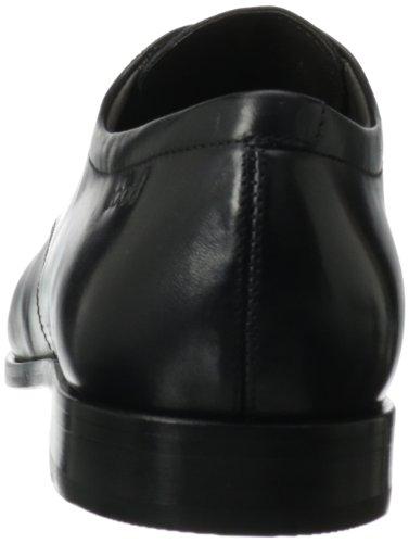 Ecco Dacono Black Leather, Scarpe stringate uomo nero (Schwarz (Black))