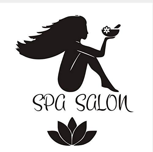 LGXINGLIyidian Sex Girl Spa Make Up Removable Home Decor Vinyl Wall Sticker Waterproof Wallpaper Fashion Beauty Salon Art Decals for Bedroom 58cmx64cm (Captain Girl Make-up America)