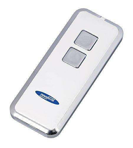 Garagentor Fernbedienung Novotron 522 (2 Kanal Sender;  64/128 Bit Verschlüsselung; 433 MHz; Silber/Weiß) TM15912001150