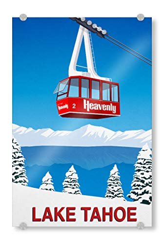 artboxONE Acrylglasbild 30x20 cm Natur Lake Tahoe California - Bild Lake Tahoe Heavenly Heavenly ski Resort