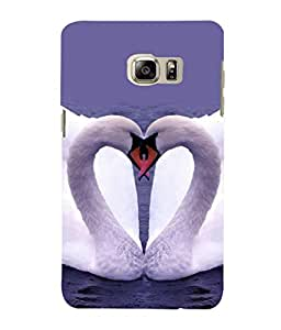 printtech Swan Heart Couple Back Case Cover for Samsung Galaxy S4::Samsung Galaxy S4 i9500