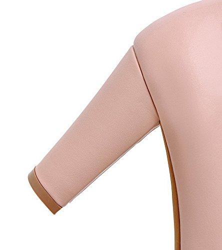 Tacco Colore Voguezone009 Alte Pelle Donna Trarre Chiaro Scarpe Potrebbe In In Solido Rosa Di HSgSrUXqAP