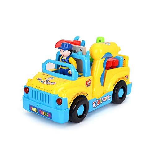 Pkjskh Kreative Persönlichkeit Werkzeug Lkw Kinder Puzzle Abnehmbare Spielzeugauto Junge Engineering Auto Spielzeug Einzigartige Music Tool Auto Nut Kombination Demontage Engineering Auto Hand Auge Ko