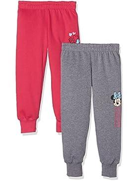 FABTASTICS Minnie Mouse, Pantalones para Niñas, pack de 2