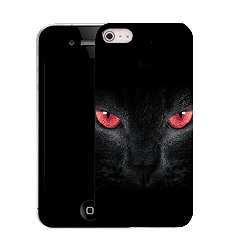 Mobile Case Mate IPhone 4 4S Klipp auf schwer Hülle Abdeckung case cover mit Griffel - panther eyes Muster
