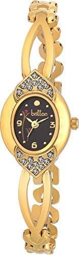 Britton Analog Black Dial Women's Watch - BR-LR012-BLK