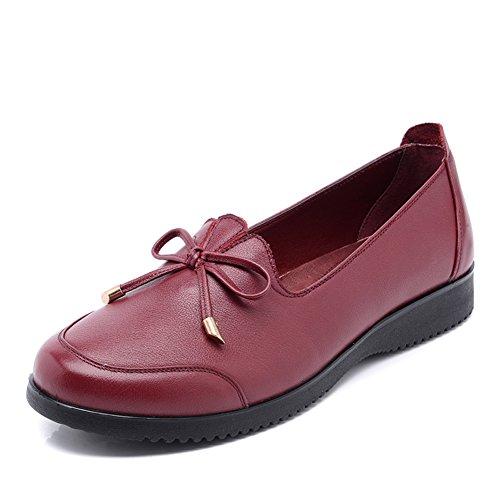 Scarpe da donna/Madre tacco piatto scarpe asakuchi/Scarpe di donne di mezza età/Scarpe uomo vecchio/Scarpe donna fondo soffice-C Lunghezza piede=21.8CM(8.6Inch)