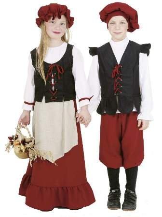 Kinder-Kostüm Bauern-Mädchen, Gr. 140 - Bauernmädchen