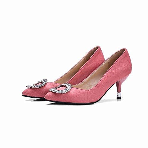 MissSaSa Donna Sottile col Tacco Gattino Elegante e Classico Pumps Rosa