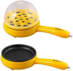 Siddhi Collection Mini Electric Plastic Frying Pan, Egg Boiler and Measuring Cup (Multicolour)