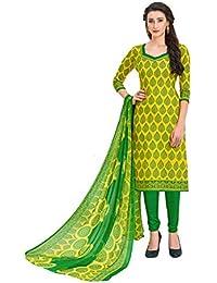 362b11c7da Viva N Diva Salwar Suit Dupatta For Women's Cotton Printed Un-Stitched Dress  Material,