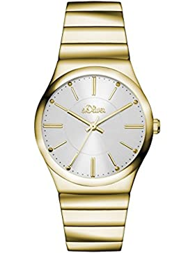 s.Oliver Damen-Armbanduhr Analog Quarz Edelstahl SO-3117-MQ