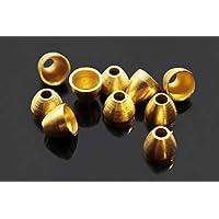 Kupfer / Messing Kegelköpfe für Rohre, Luftschlangen, Fliegenbinden, Perlen, 5 x 4,1 x 1,7 mm, 40 Stück