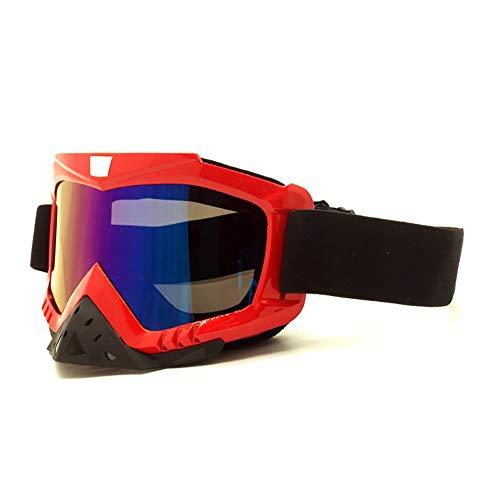 OOFAYWFD Brille, Motocross-Helmbrille, für Outdoor-Aktivitäten, Winddichte Brille, Skibrille, Rennbrille, TPU-Rahmen, PC-Objektiv 4
