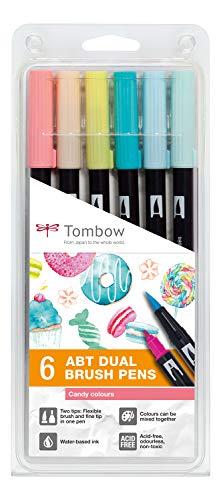 Tombow PABT-6P-4 Dual brush, ,
