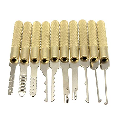 41gEJ1V9WcL - Yongse DANIU 18Pcs Dimple Lock Pick Tools Herramienta de cerrajería de Apertura de Puerta de combinación