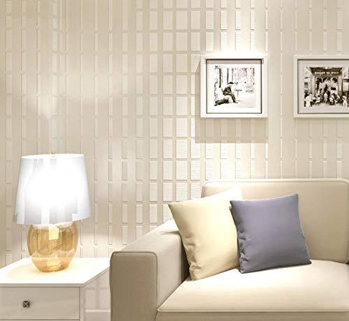 Marseille Schlafzimmer (Vliestapete Moderne Wanddeko Minimalistisches Design 3D Optik Wandgemälde Vlies-Wand-Tapete für Wohnzimmer Schlafzimmer Wanddeko, Einfaches Gitter Marseille, 0.53x10m)