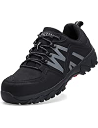 WHITIN Zapatos de Seguridad Hombres Zapatillas de Trabajo con Punta de Acero Reflectivo Transpirable