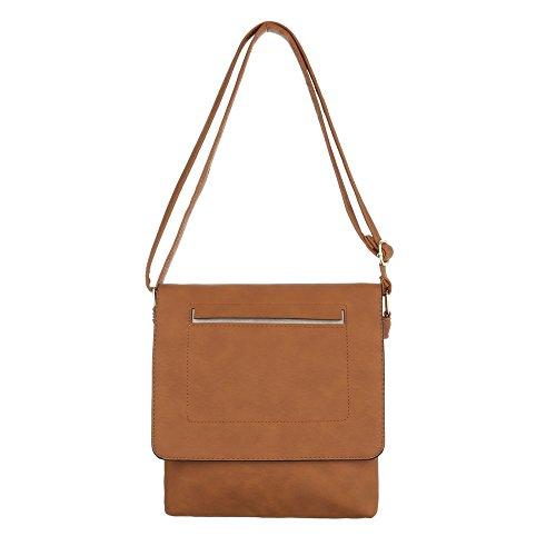 Ital-Design, Borsa a spalla donna marrone chiaro