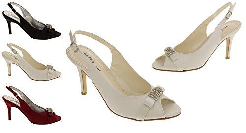Glitz Occasions Femmes Satin Chaussures