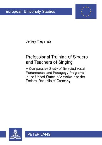Professional Training of Singers and Teachers of