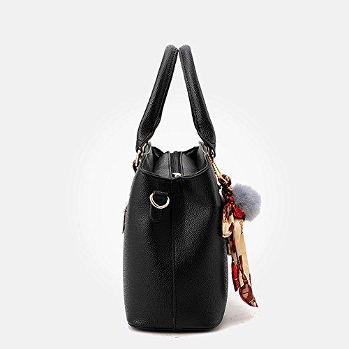Kigurumi Borsa A Tracolla A Mano Tote Retrò Da Donna Shopper Con Tracolla nero