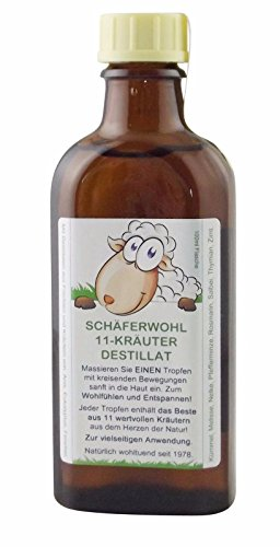 SCHÄFERWOHL 11-Kräuter-Destillat 100ml Flasche, ätherisches Wellness-Kräuteröl | Natur Entspannen Relax Wohlfühlen - enthält wertvolle, natürliche Destillate aus Früchten und Kräutern - PZN: 11564556 -